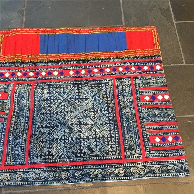 John Robshaw Vintage Batik Indigo Pillow Cover - Image 5 of 7