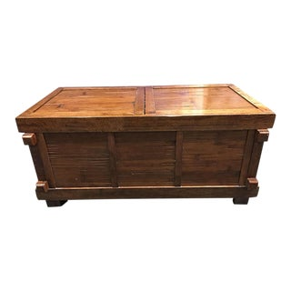 Vintage Sliding Top Trunk Table
