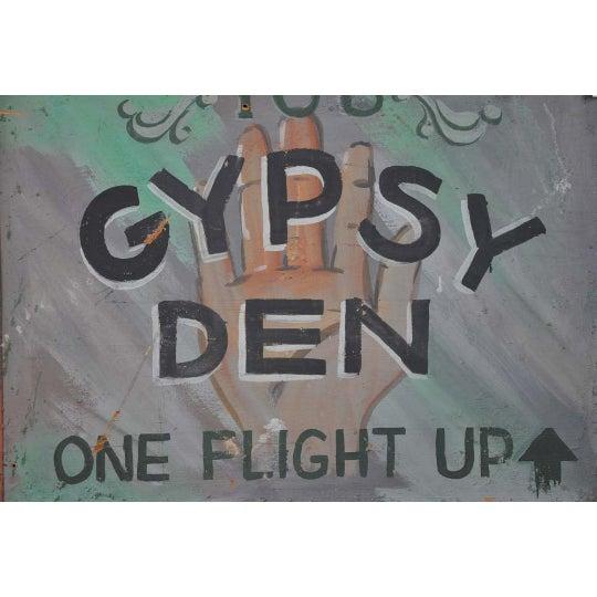 Image of 1970s Vintage Gypsy Den Fortune Teller Sign