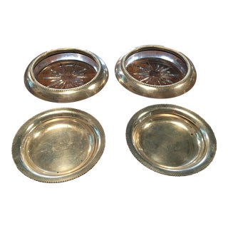 Frank Whiting Sterling Ashtrays - A Pair