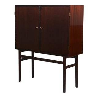 Ole Wanscher Mahogany Linen Press