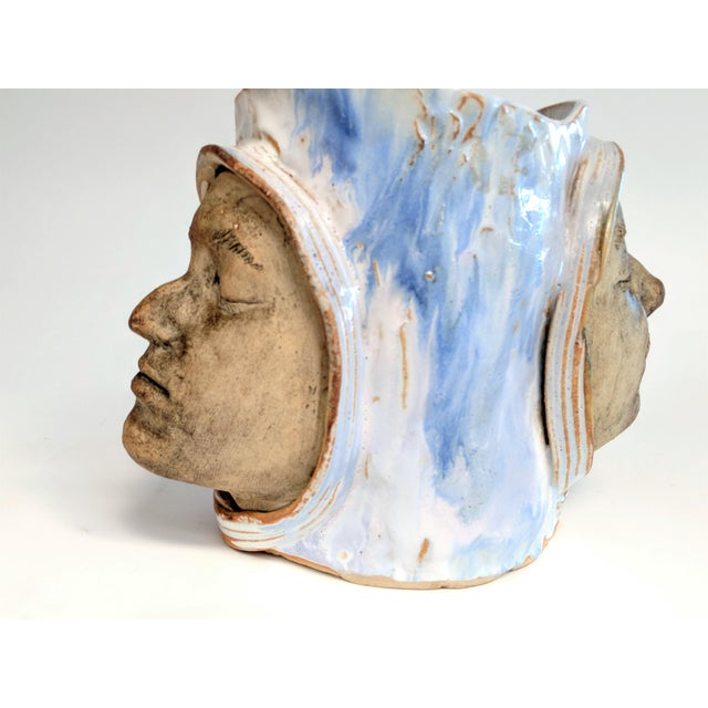 1970 Double Faced Pottery Planter - Image 8 of 10
