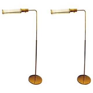 Pair of Casella Glass Rod Floor Lamps