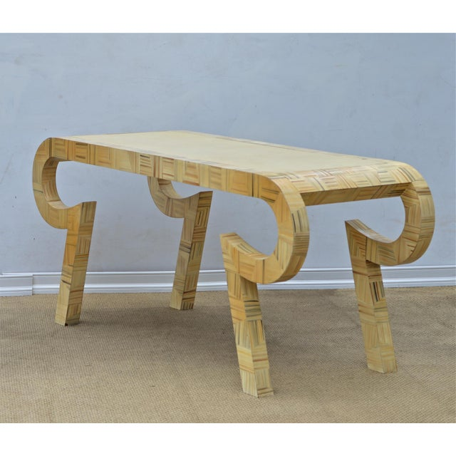 Alessandro Painted & Lacquered Console / Desk for Baker Furniture - Image 6 of 11