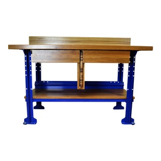 Custom Oak & Cherry Kitchen Workbench