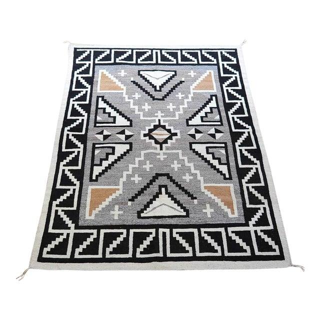 "Vintage 1920s Navajo Geometric Rug - 3′6″ x 73"" - Image 1 of 11"