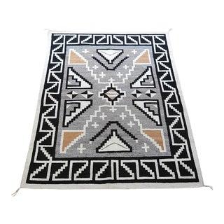 "Vintage 1920s Navajo Geometric Rug - 3′6″ x 73"""