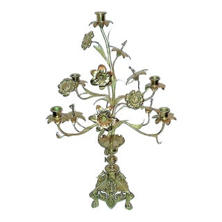 Antique French Church Altar Candelabra