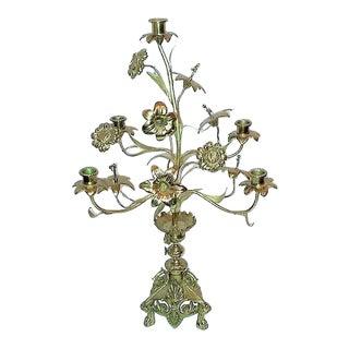 Antique French Church Altar Candelabra