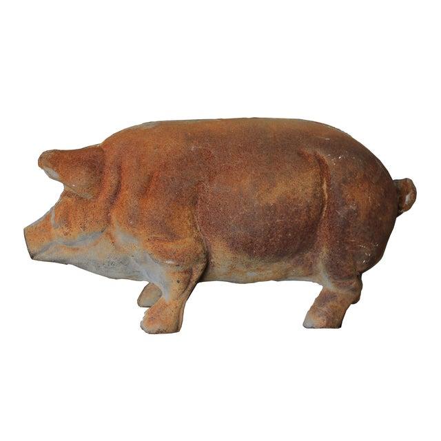 Image of Antique Large Cast-Iron Pig Bank