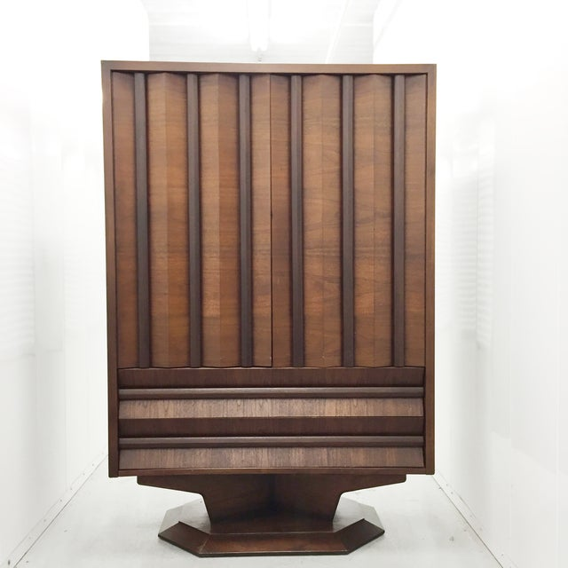 Mid-Century Wood Wardrobe/Armoire - Image 3 of 5