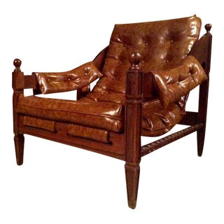 Spanish Colonial Button Tufted Sling Chair