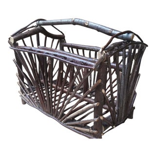 Handmade Rustic Twig Planter Container / Basket