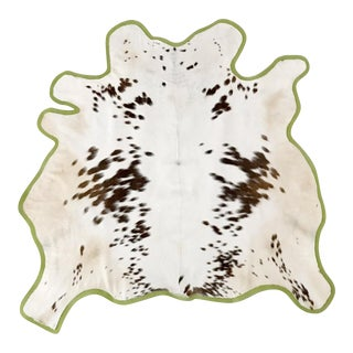 Brown & White Animal Hyde Rug