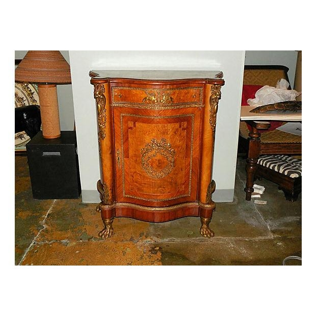 Image of Antique Inlaid French Empire Revival Cabinet