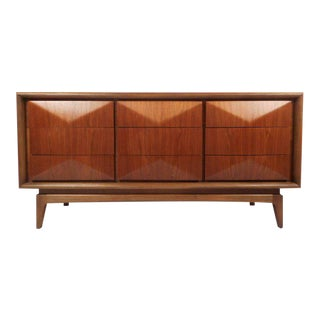 Petite Vintage Modern Dresser in the Style of Vladimir Kagan