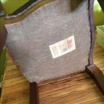 Image of Antique Carved Side Chair W/Needlepoint Tapestry