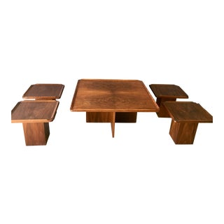 Brown Saltman Mid-Century Coffee & Nesting Tables - 5 Pieces