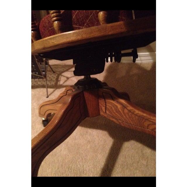 Vintage Cane Lawyers Adjustable Desk Chair - Image 6 of 6