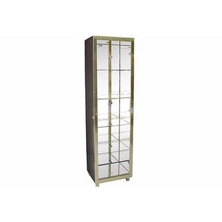 Mid-Century Brass Curio Cabinet