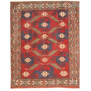 Antique 19th Century Turkish Pinwheel Rug
