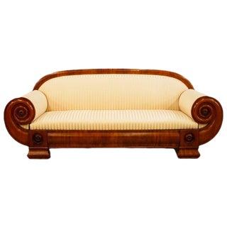 19th Century Swedish Mahogany Empire Art Deco Sofa