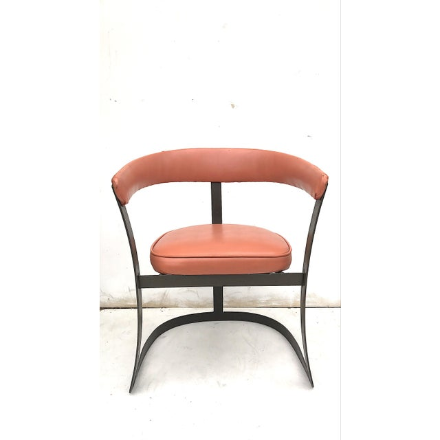 Grapefruit Pink Chairs - A Pair - Image 6 of 10