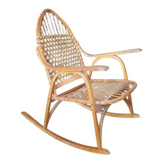 Adirondack Vermont Tubbs Snow Shoe Style Rocking Chair