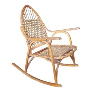 Adirondack Vermont Tubbs Snow Shoe Style Rocking Chair
