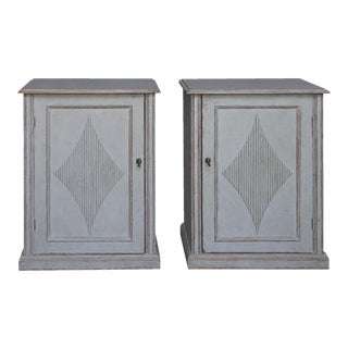 Pair of Gustavian Style Low Cabinets (#52-28)