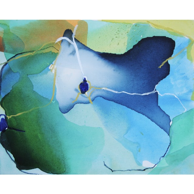 """Image of """"Sweetpea 2"""" Mixed Media Canvas Painting"""