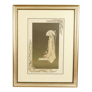 Joy Dunn Art Nouveau Style Lithograph