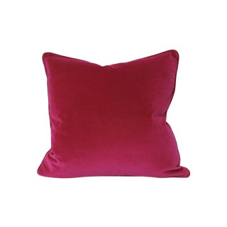 Peony Pink Italian Velvet Pillows - A Pair