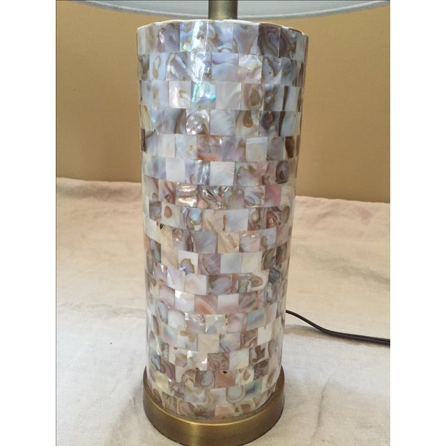 Mother of Pearl Tile Base Table Lamps - A Pair - Image 3 of 5