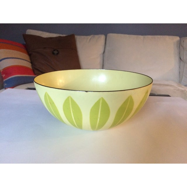 Image of Cathrineholm Green And Yellow Lotus Bowl