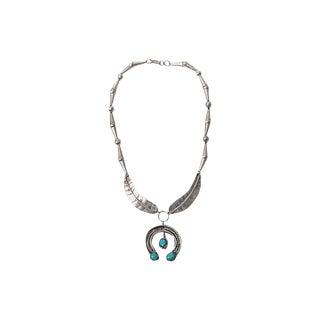 Vintage Turquoise Naja Pendant Necklace