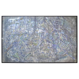 Roy Lerner, Tears of the Moon, Large Textured Acrylic Abstract on Canvas