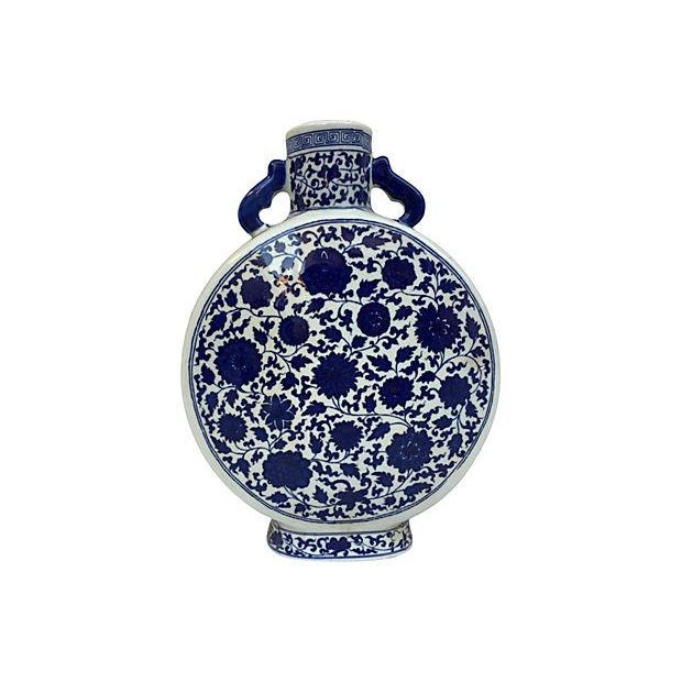 Image of Blue & White Chinese Porcelain Vase