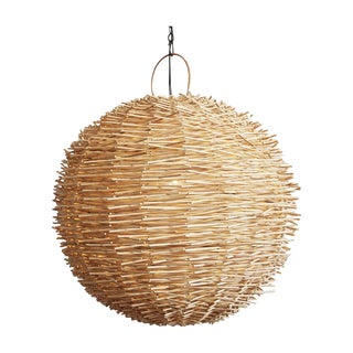 Bird Nest Rattan Globe Lantern