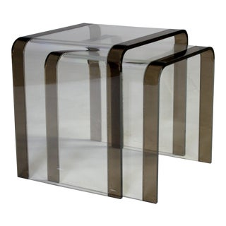 Lucite Waterfall Nesting Tables - Pair