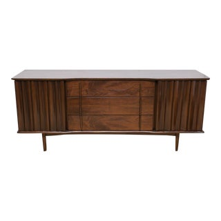Mid-Century Modern Walnut Credenza by United Furniture