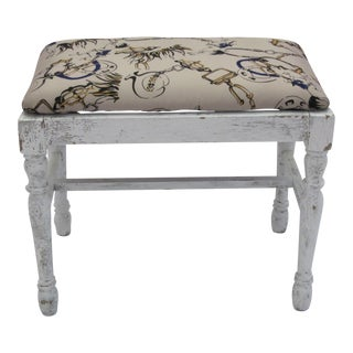 Vintage Equestrian Themed Footstool