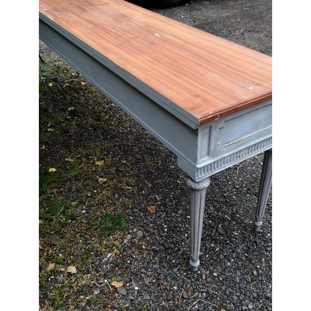 Vintage Gustavian Style French Console Table - Image 4 of 7