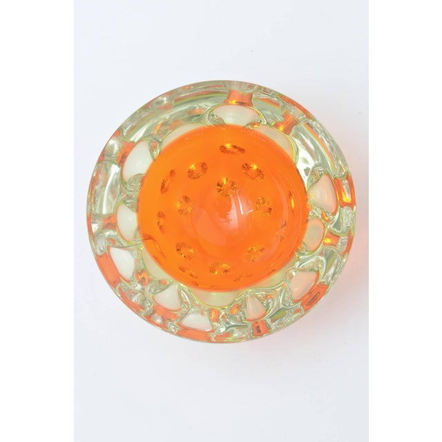Rare Italian Murano Sommerso Dimpled Geode Glass Bowl - Image 4 of 9