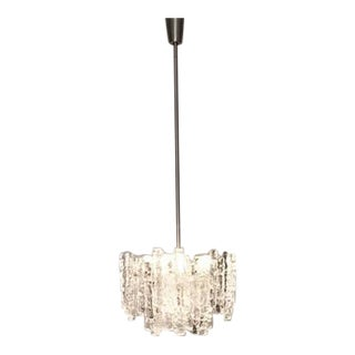 Kalmar Austria Icicle Ice Glass Viennese Chandelier from the 1960s