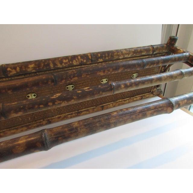 Antique Bamboo Amp Rattan Wall Shelf With Hooks Chairish