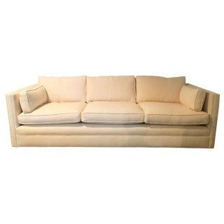 Knoll Tuxedo Linen Sofa