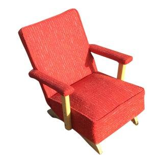 1950s Vintage Mid Century Child's Rocking Chair