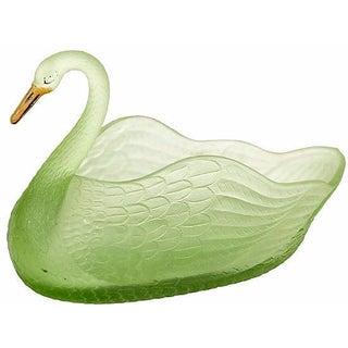 1950s Green Swan Flower Frog