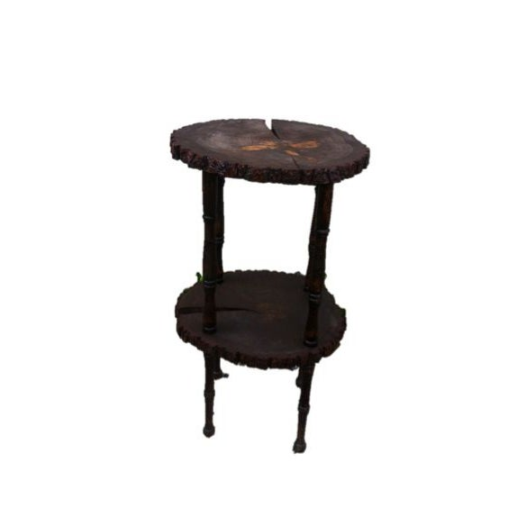 Custom Handcrafted Reclaimed Pine Table Side Table - Image 2 of 8
